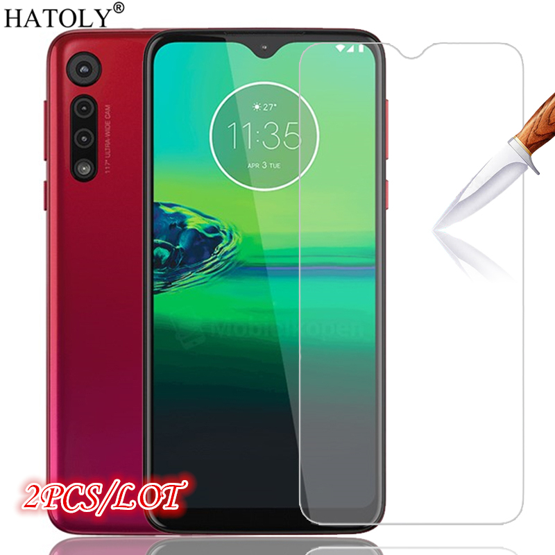 2Pcs Glass On Moto G8 Plus Screen Protector Tempered Glass For Motorola Moto G8 Plus HD Protective Glass Film For Moto G8 Plus
