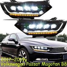 الإصدار الأوروبي 2017 ~ 2019 العام سيارة الوفير رئيس ضوء ل Passaat Magotan B8 العلوي الكل في LED ل Magotan باسات كشافات
