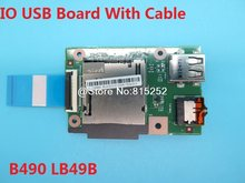 Ноутбук IO USB плата с кабелем для Lenovo B490 LB49B 90000977 55.4xz02.001g M495 LM495 90000725 55.4xe04001g Новый