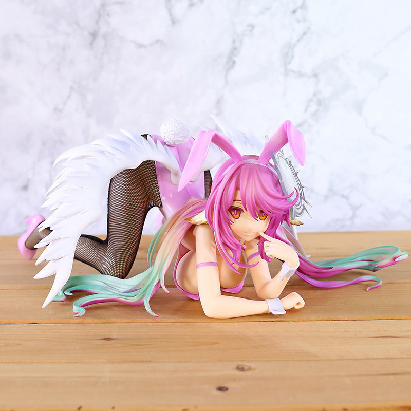 Anime No Game No Life Jibril <font><b>Bunny</b></font> Ver. <font><b>1/4</b></font> <font><b>Scale</b></font> Dolls PVC <font><b>Figure</b></font> <font><b>Sexy</b></font> Girl Model Toy image