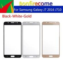 10pcs \ lot para Samsung Galaxy J7 2016 J710 J710F J710FN J710M J710MN J710H pantalla táctil de vidrio exterior LCD frontal pantalla táctil lente