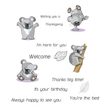 ZhuoAng Koala model Clear Stamps For DIY Scrapbooking/Card Making Decorative Silicon Stamp Crafts