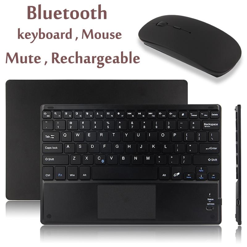 Сенсорный экран Bluetooth клавиатура для Android Windows Системы планшет ноутбук Беспроводной Bluetooth клавиатура с сенсорной панели