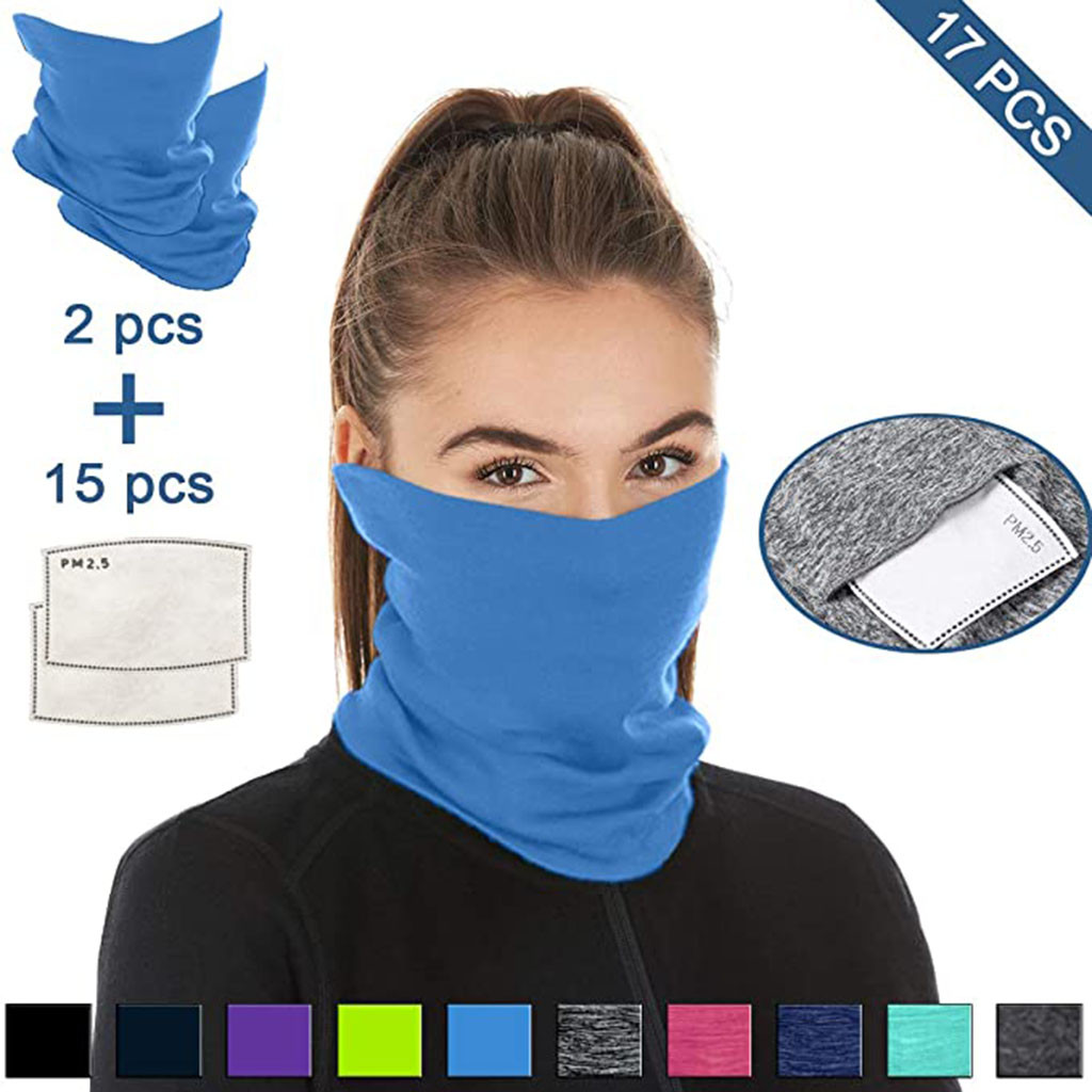 H06e61af4a4334f7888c8c3daeb9eebb1o Multifunctional Head Scarf Maske Facemask Face Mouth Neck Cover With Safety Filter Mascarillas Washable Bandanas Reusable