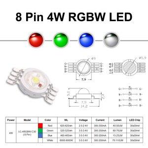 Image 2 - السوبر مشرق 4 واط 12 واط RGBW RGBWW RGBV LED مصباح COB على شكل شريحة 3 واط أحمر أخضر أزرق أبيض أرجواني كامل اللون لتقوم بها بنفسك المرحلة DJ DMX حامل مصباح إضاءة لمبة