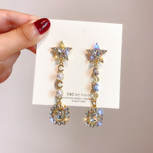 creative new style star  long elegant earrings for women statement dangle korean fashion drop luxury