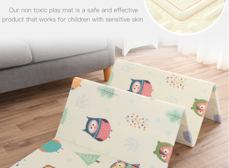 H06e6635d0440424eb4cfc5cfe4dffeffc Miamumi Portable Baby Play Mat XPE Foam Double Sided Playmat Home Game Puzzle Blanket Folding Mat for Infants Kids' Carpet Rug
