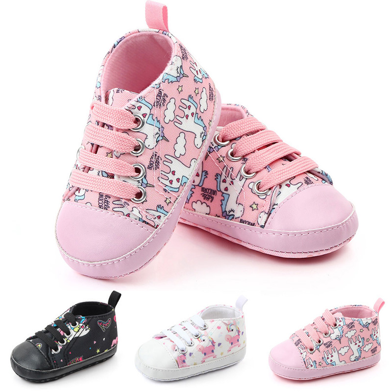 New Cute Cartoon Unicorn Newborn Baby Shoes Soft Bottom Non-Slip Infant Toddler Shoes Baby Boy Girl Shoes Girls First Walkers | Happy Baby Mama