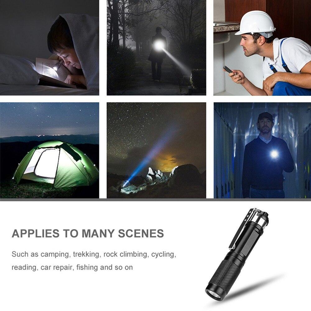 Image 5 - Mini linterna LED portátil Linkax XPE luz de trabajo linterna bolígrafo potente linterna Lámpara 1 Modos AAA iluminación de acampada al aire libreLinternas y antorchas   -