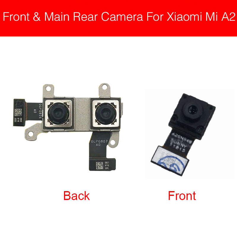 Small Front And Rear Camera For Xiaomi Mi A2 MiA2 6X Back Camera Main Camera Flex Ribbon Cable Phone Replacement Repair Parts