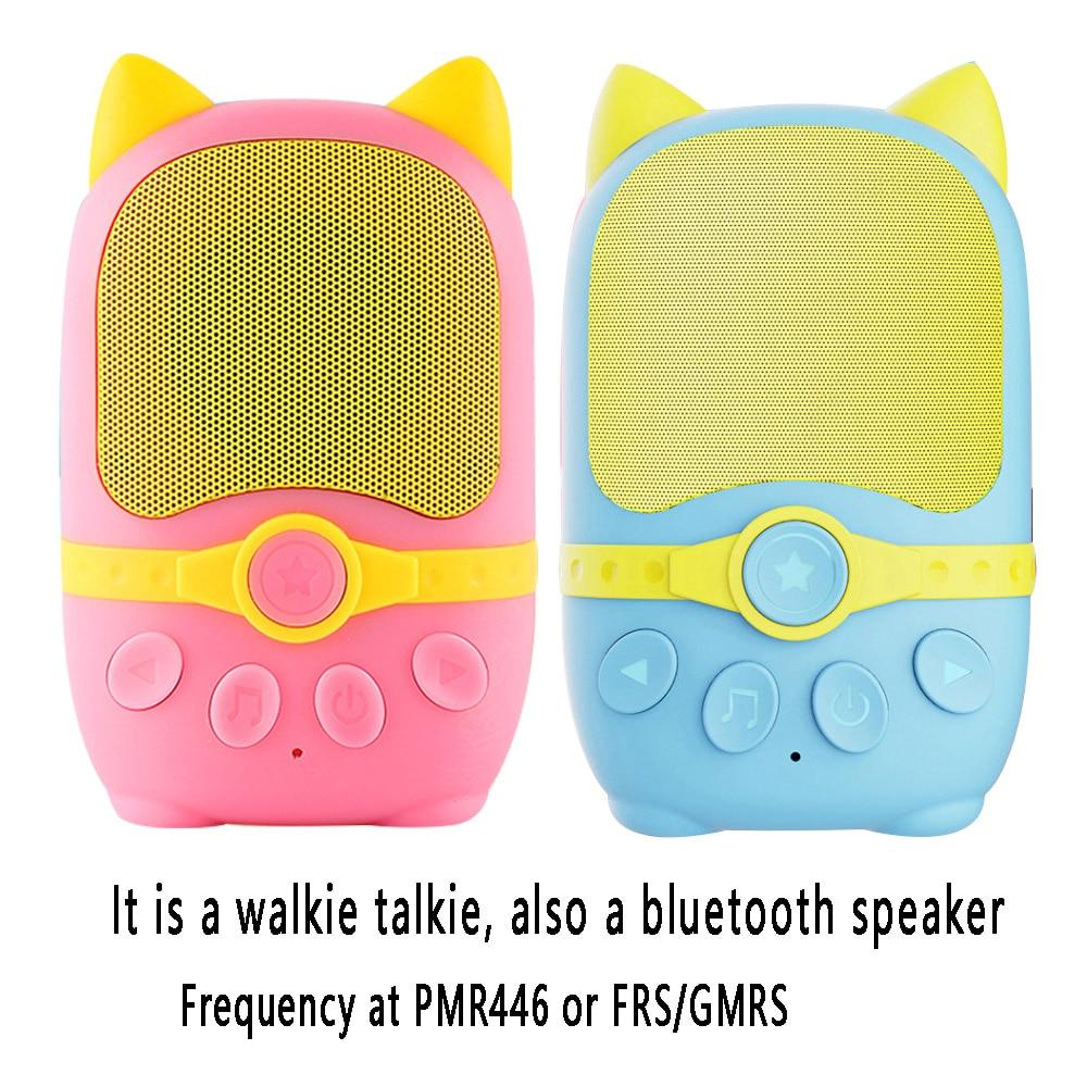 2pc Radtel RB1 Kids Walkie Talkie with Bluetooth Speaker, PMR446 FRS Mini Walkie-Talkie for Children Birthday Gift Toy 500-1000M