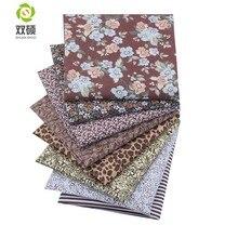 Tecido de algodão azul seriers retalhos tecido caixa de gordura quartos costura para tecido 8 peças/lote 50x50cm