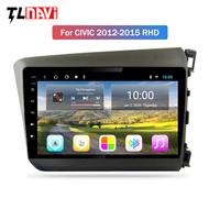 2G RAM 9 inch android 9.1 car multimedia gps navigation system for RHD Honda civic 2012 2015 right hand drive