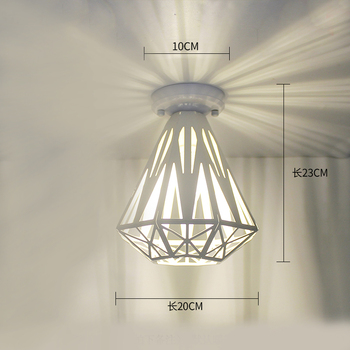 Ceiling lights Minimalist Retro Ceiling Lamp Glass E27 industrial decor  lamps for living room Home Lighting Lustre Luminaria 20