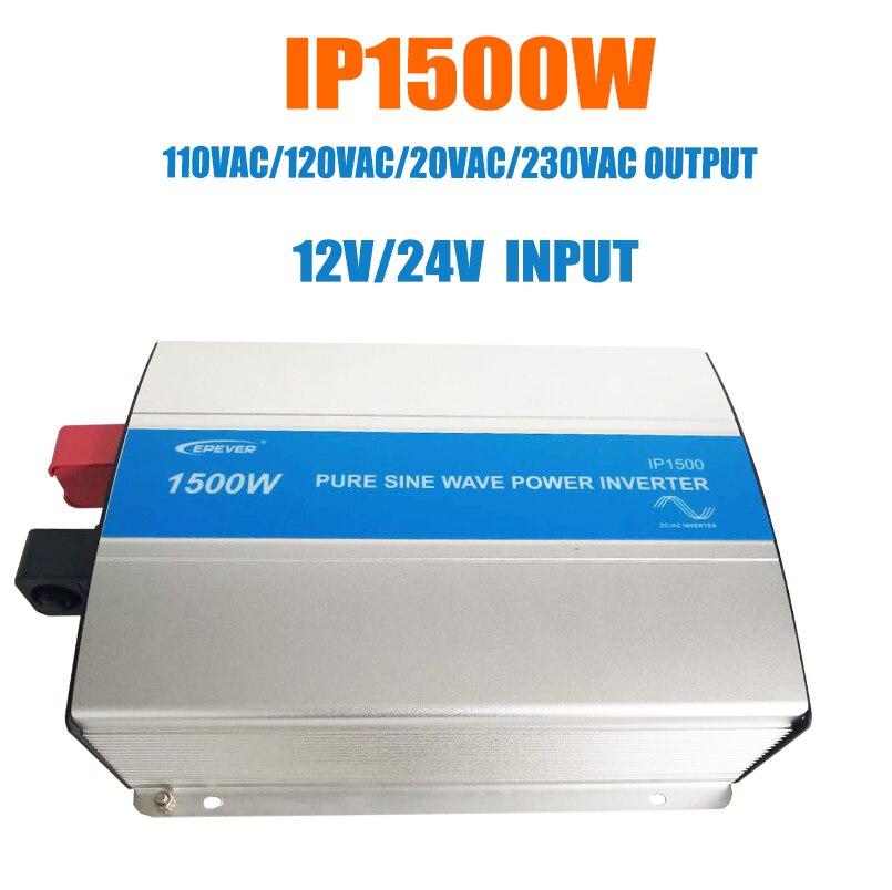 Epever 1500 w 순수 사인파 인버터 12 v/24 v 입력 110vac 120vac 220vac 230vac 출력 50 hz 60 hz 고효율 컨버터 ipower