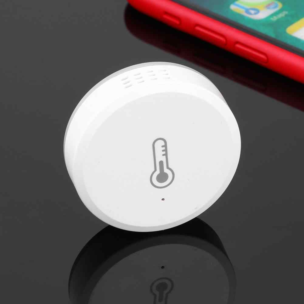Sensor de humedad de temperatura infrarroja ZigBee Sensor inal/ámbrico WIFI Sensor de alarma inteligente autom/ático para el hogar Blanco RSH-ZigBee-HS01 Baugger