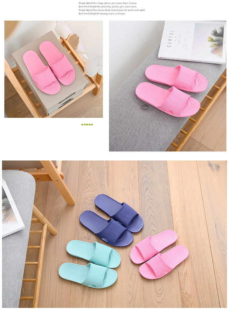 Summer Women Floor Flat Shoes Couple Indoor Eva Flip Flops Female Non-slip Bathroom Home Slippers Zapatillas De Hombre