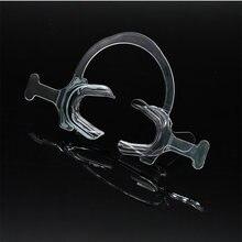 Ouvre-bouche orthodontique en plastique, rétracteur de joues Transparent avec poignée, rétracteur de joues et de lèvres en forme de C, 10 pièces