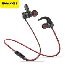 AWEI A920BLS Bluetooth אוזניות אלחוטי אוזניות ספורט אוזניות עם מגנטי Auriculares אוזניות אלחוטי קסדה 10h מוסיקה