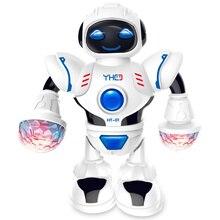 Moving Funny LED Flashing Electronic Dancing Robot For Child Walking Toys New Ye