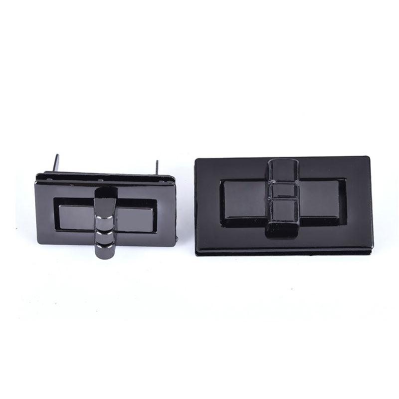 1Pc Rectangle Shape Clasp Turn Lock Twist Locks DIY Leather Handbag Lock Women Bag Hardware Metal Bag Accessories
