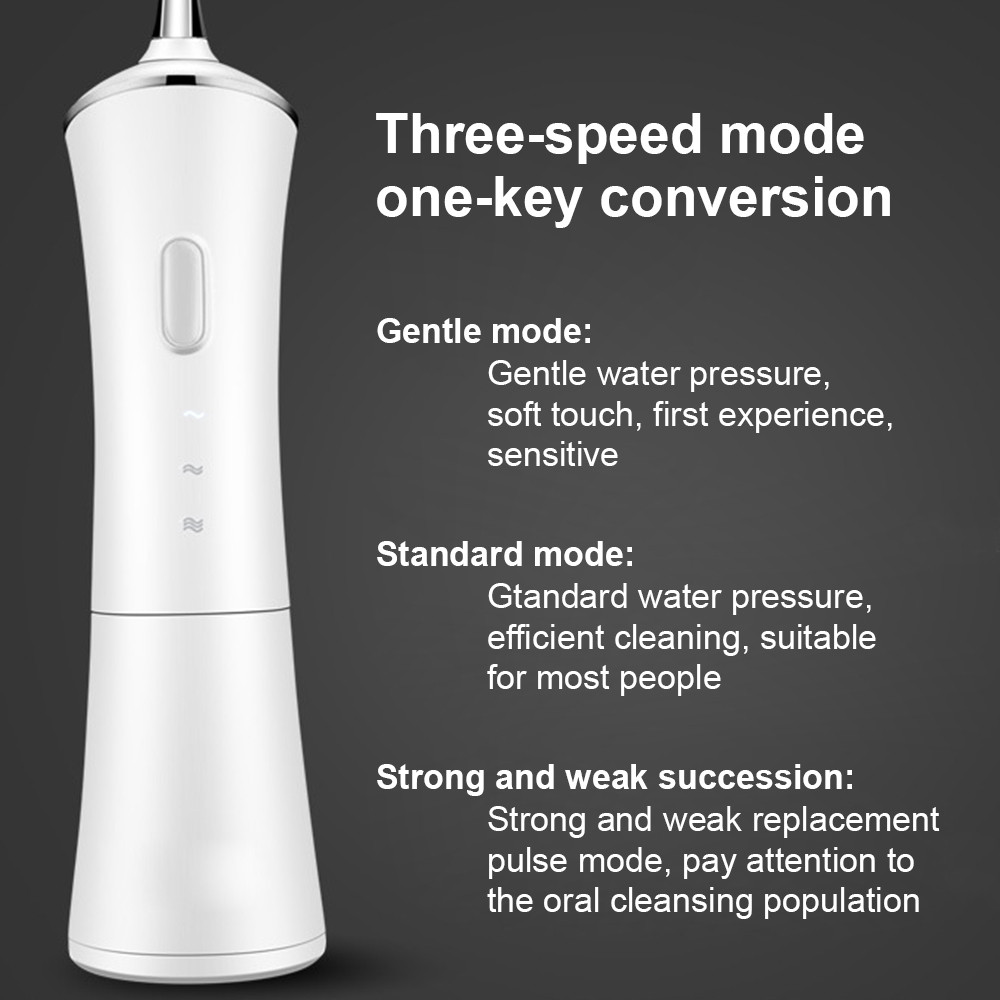Irrigador oral sem fio portátil água dental