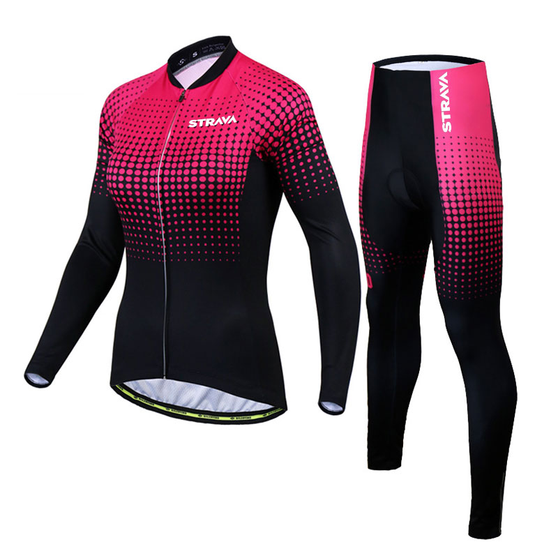2020 Strava jersey women's long sleeve triathlon suit leggings lovers cycling jerseys jumpsuitso mtb jersey women 2 orders