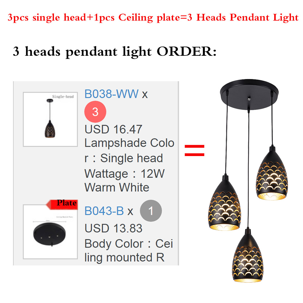 Image 3 - Scaly hollow style iron ceiling droplight led ceilight light cord pendant lamps for living room restaurant stairway lightingCeiling Lights   -