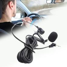 Professionals Car Audio Microphone 3.5mm Jack Plug Mini External Microphone Radio DVD Mic Stereo Long  Wired For Auto U5A1