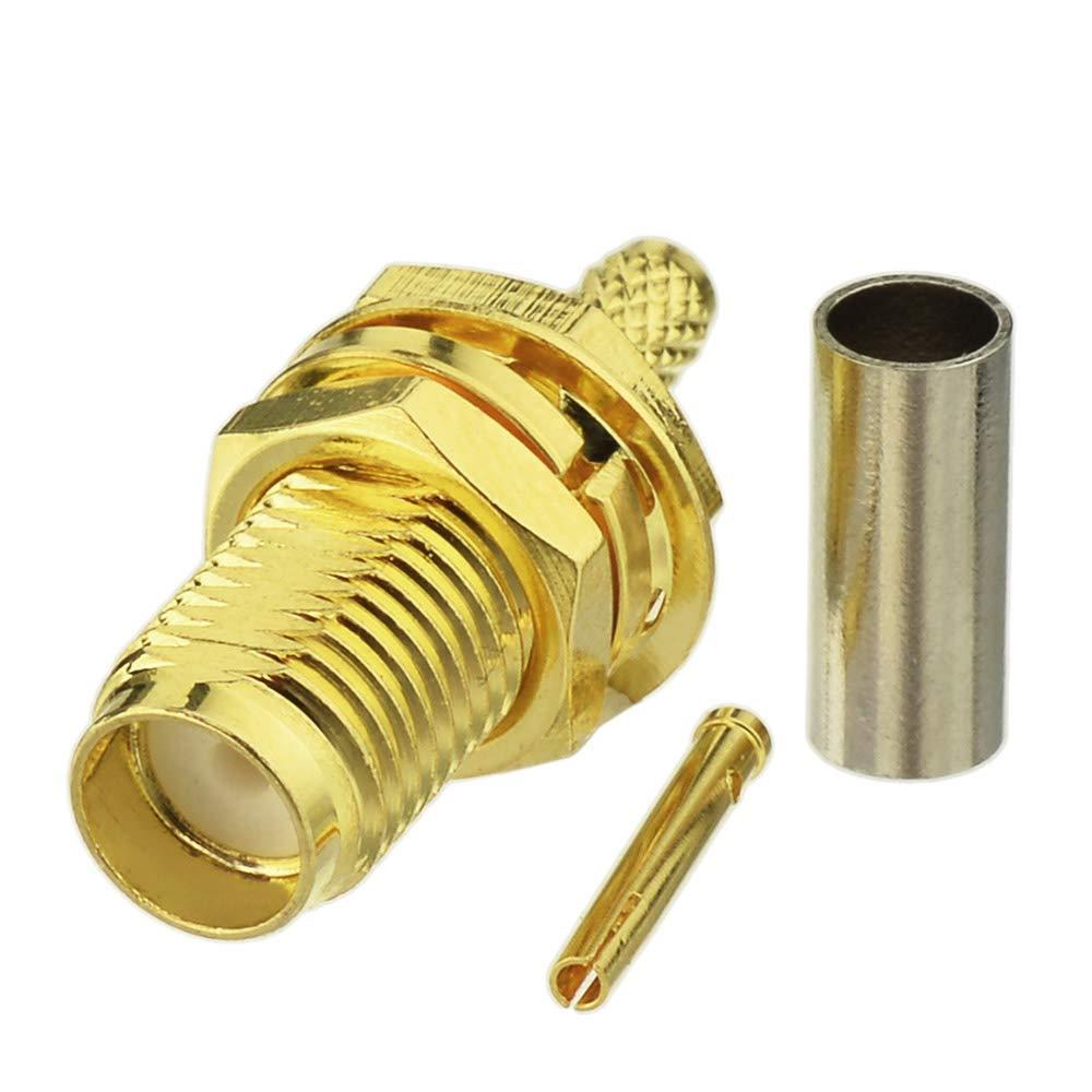 5 шт. гнездовой адаптер SMA RF коннектор SMA Гнездовой обжим для RG316 RG174 кабельный провод SMA Гнездовой разъем адаптер