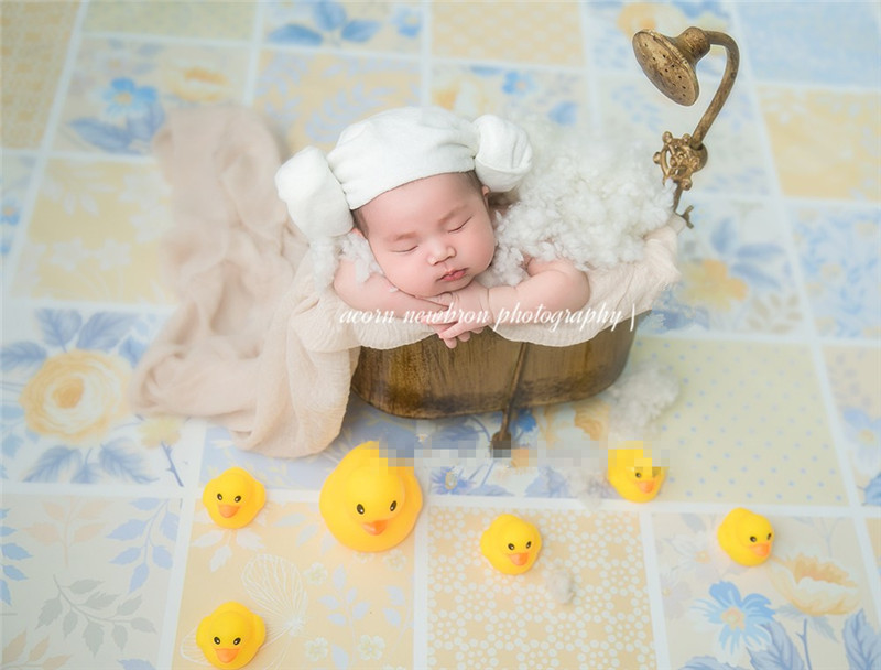Retro Iron Bathtub Newborn Photography Props Baby Bathtub  Infant Basket Studio Photo Shooting Accessories Photography