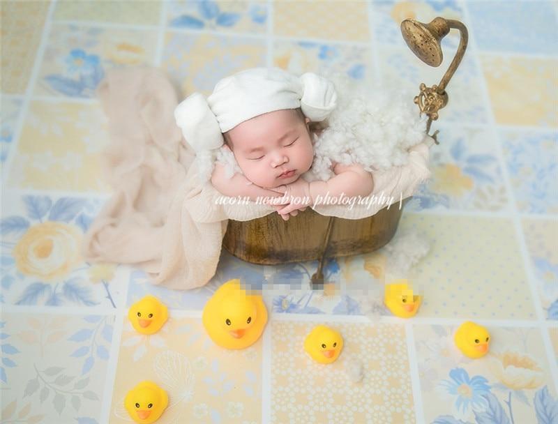 Retro Iron Bathtub Newborn Photography Props Baby Bathtub  Infant Basket Studio Photo Shooting Accessories Photography