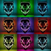 Halloween Party Led Maske Partei Maske Maskerade Masken Neon Maske Licht Glow In The Dark Horror Maske Glowing Techwear Liefert