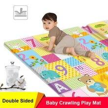 Xpe bebê jogar esteira brinquedos para crianças tapete desenvolvimento esteira do bebê rastejando almofada ambientalmente amigável dobrável