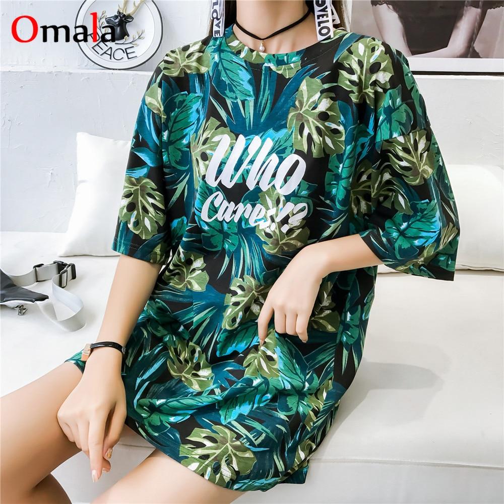 Korean Style Summer Women Short Sleeve T Shirt Casual Printing T-shirts Girls Big Size Tshirt Loose Harajuku Streetwear Tee Tops