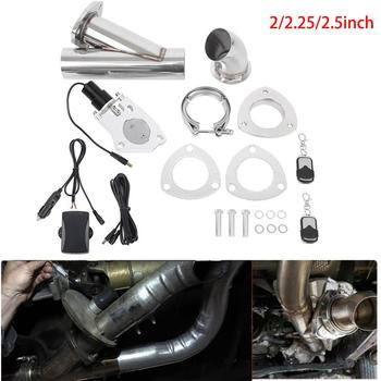 Samger 2/2.25/2.5inch Electric Stainless Exhaust Cutout Cut Out Dump Valve Header Be Cut Pipe Electric Exhaust Muffler Valve Kit 1