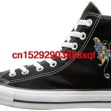 Повседневная парусиновая обувь унисекс с высоким берцем на шнуровке; парусиновые кроссовки для мальчиков и девочек