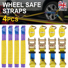 цена на New Professional Heavy Duty Trailer Ratchet Strap Tie Down Claw J Hook New Load Securing Wheel Tie Down Ratchet Safety Straps