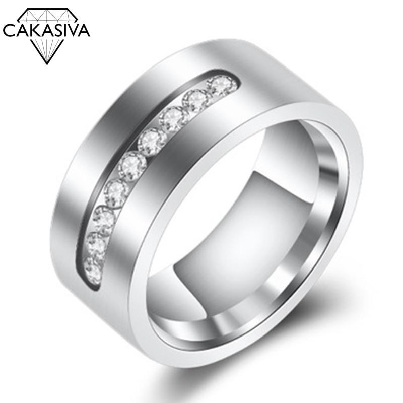 Men's Simple Zircon Ring Engagement Banquet Birthday Gift Jewellery