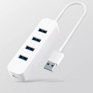 Image 3 - Xiaomi USB3.0 концентратор адаптер 4 универсальный порт 350 МБ/с./с USB 3,0 гигабитный адаптер концентратор док станция для планшета компьютера ноутбука