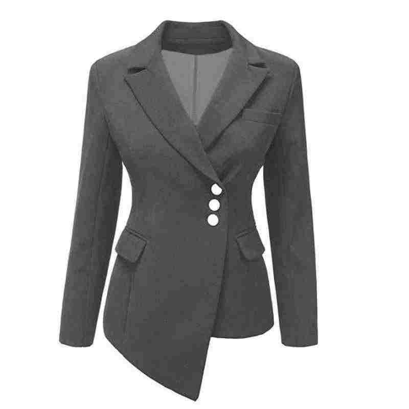 2020 New Fashion Suit Women Blazer Workwear Unregular Office Ladies Blazers Spring Tops Female Large Size S-XXXL Khaki Black Red
