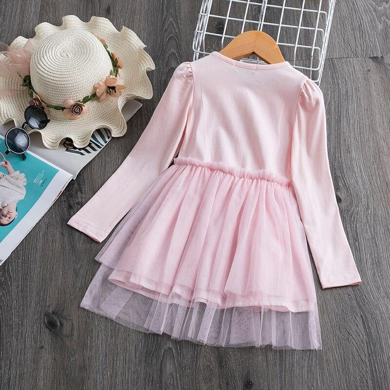 H06e932e0ad8448738785f62e62e3407cl 3-8 Years Girls Dress Long Sleeve Kids Unicorn Party Vestidos Fancy Children Princess Dresses Kids Birthday Dress For Girl