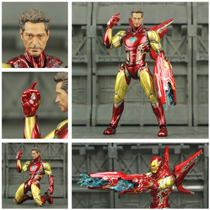 "Image 3 - Iron Man 6"" Action Figure Ironman Nano MK50 MK85 MK47 Mark 50 85 46 47 Tony Stark Legends KOs SHF Avenger Endgame Toys Doll"