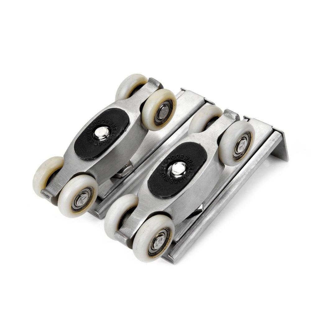 Stainless Steel Sliding Door Rollers 80KG Bedroom Wood Door Hanging Wheels Meeting Room Wardrobe Door Roller Wheels