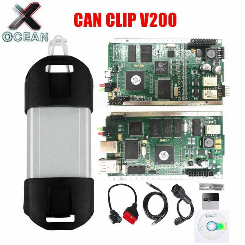 Can Clip V200 Diagnostic Interface For renault Can Clip PCB With NEC Relay AN2131QC AN2135SC Full Chip Auto Diagnostic Tool