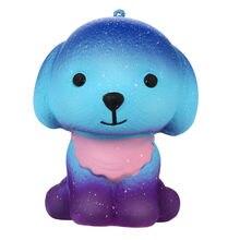 Adorável squishies galaxy filhote de cachorro lento subindo frutas perfumado alívio do estresse brinquedo presente brinquedos de descompressão coleção bonito cura presente