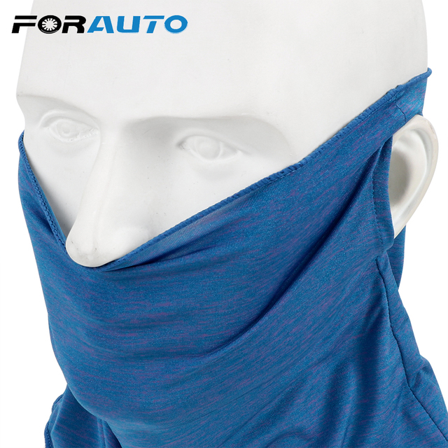 FORAUTO Ice Silk Motorcycle Face Mask Quick Dry Skin-friendly For Outdoor Cycling Fishing Sport Sunscreen Headscarf  Breathable