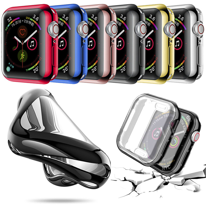 44mm 40mm TPU Slim Cover case Protector For Apple Watch series 6 5 4 3 2 case 42mm 38m Protective case For iWatch series 6