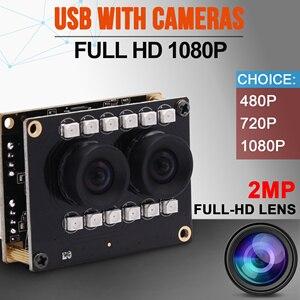 Image 2 - Năm 1080, Ghi Hình Cực Nét, Giá Rẻ Nhất BH UY TÍN Bởi TECH ONE WDR Không Bị Biến Dạng RGB B/W Hồng Ngoại Webcam Ban Nhận Dạng Khuôn Mặt 2mp Ống Kính Kép USB module Camera Với Đèn LED Hồng Ngoại