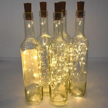 Battery powered cork wine bottle light 1m / 2m DIY LED string light bar light birthday party wine bottle stopper light strip 1